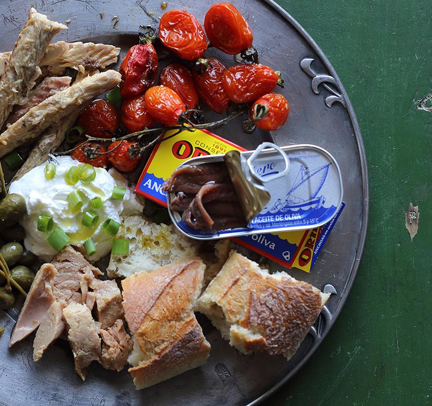 plato con anchoas ortiz umami